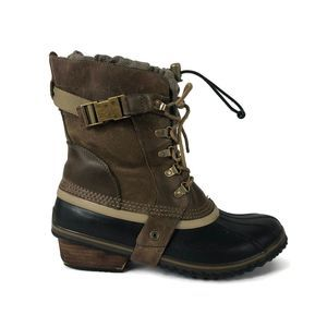 Sorel Conquest Carly Short Leather Boots- Size 11